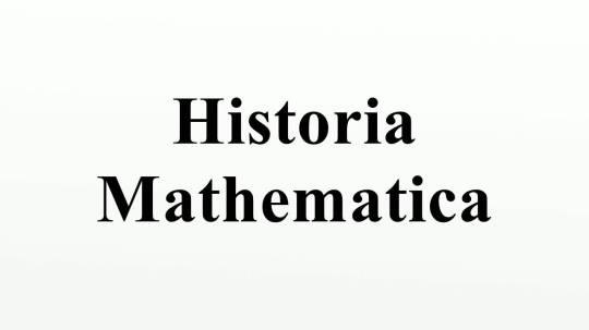 Historia Mathematica